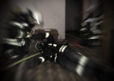 Atemschutznotfall-Zoom-Burst